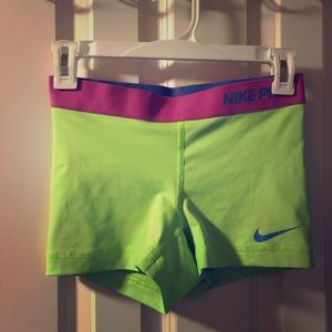 Lime green Nike pros